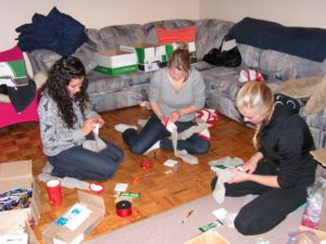 Stocking Challenge and Care Backpacks project
