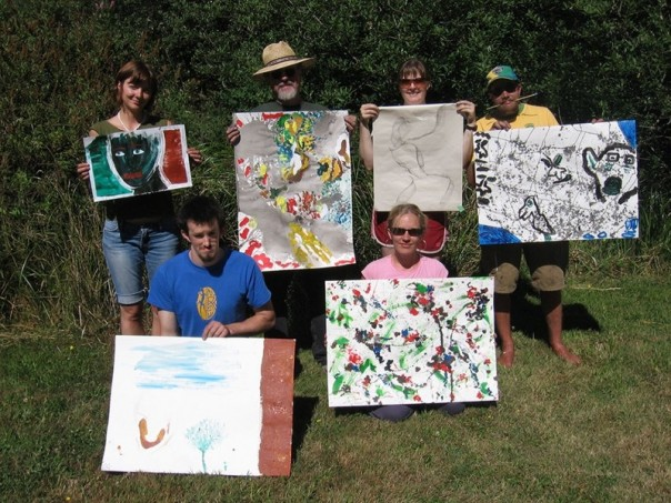 Ptarmigan staff and participants at the Strength Within summer camp for survivors of childhood cancer, Pender Island