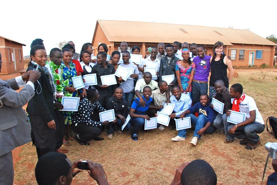 WUSC SRP Cohort 2012-2013 Graduation Day July 24th, 2012 in Dzaleka Refugee Camp