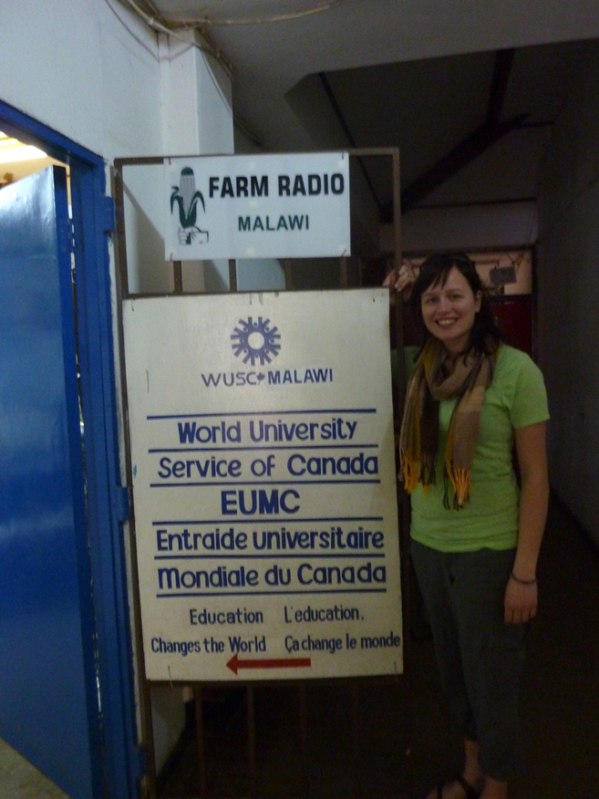 Katie's first day at the WUSC Office in Lilongwe, Malawi