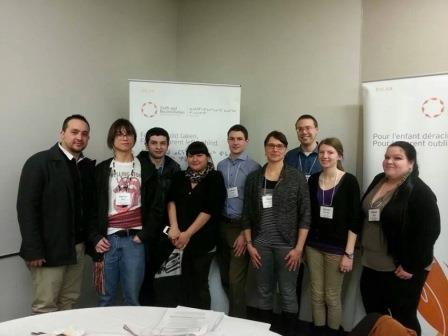 Community Foundations of Canada representatives at the 4Rs youth summit