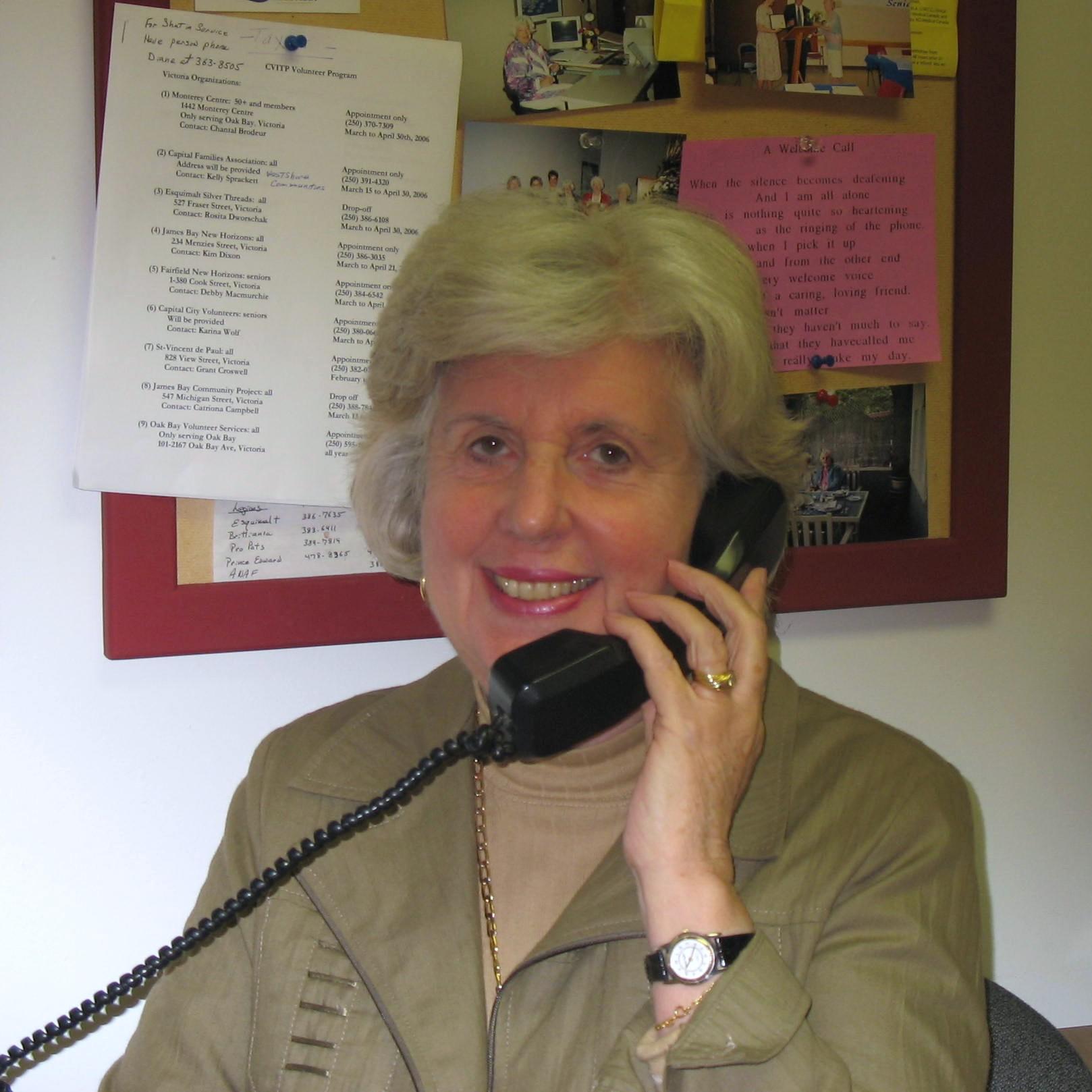 Seniors Serving Seniors Telephone Line Volunteer