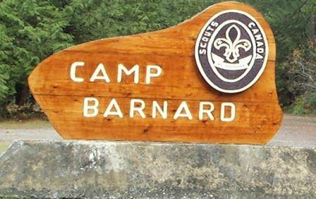 Scouts Canada, Cascadia Council - Camp Barnard welcome sign