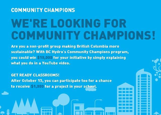 BC Hydro Community Champions