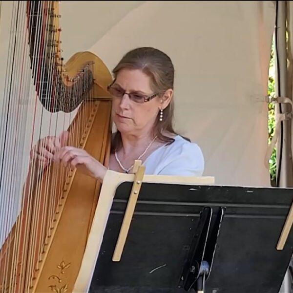 Victoria Symphony Harpist Performing