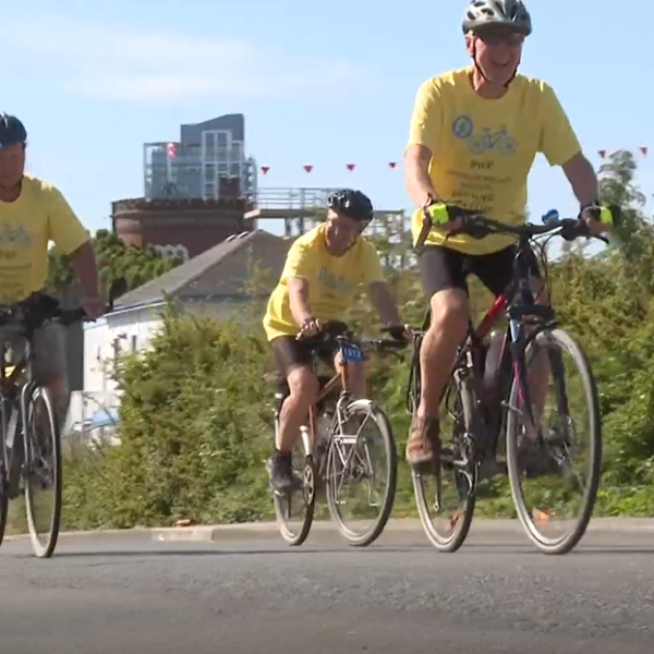 Cyclists participating in Ride for Parkinson's fundraiser