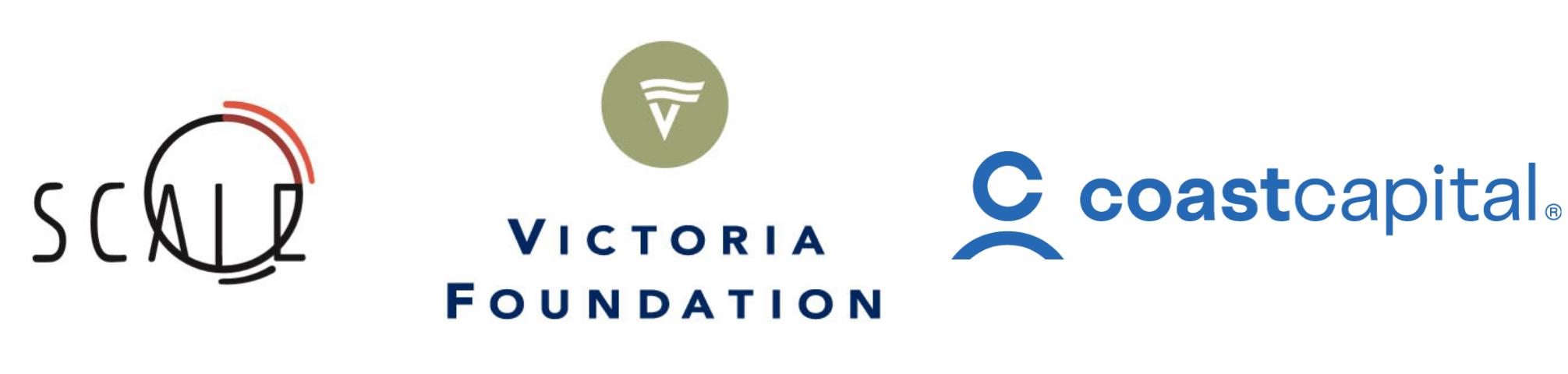 Scale Collaborative, Victoria Foundation and Coast Capital Logos