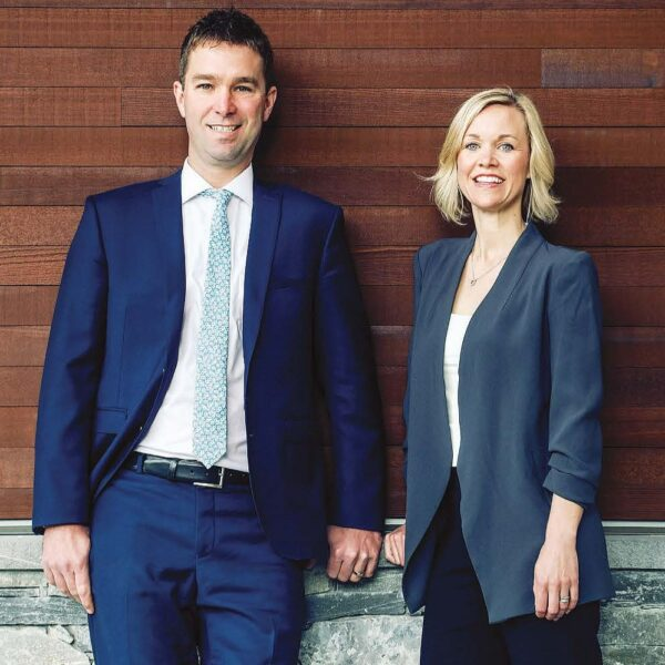 Siblings Trevor McCall, left, and Stacy Lund were part of the first group of young philanthropists who took part in the Victoria Foundation's Gadsden Initiative.